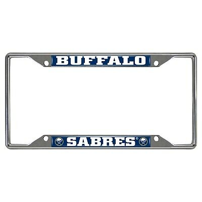 Fanmats NHL Buffalo Sabres Metal Chrome License Plate Frame Delivery 2-4 Days