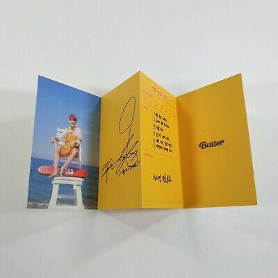 BTS Butter Official Original Folded Message Card 1p JIMIN K-POP Photo Card Goods