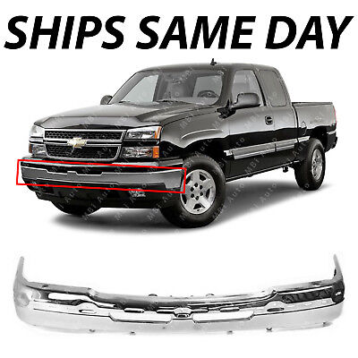 NEW   Chrome Front Bumper Face Bar for 2003 2007 Chevy Silverado Avalanche Truck