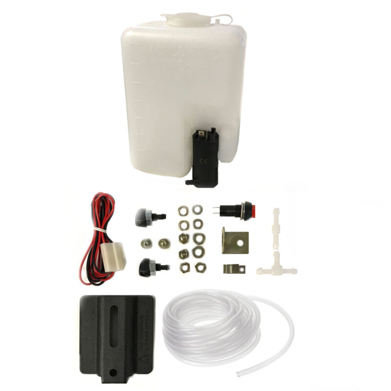 Universal Windscreen Washer Bottle With 12 Volt Pump Sprayers PVC Tube