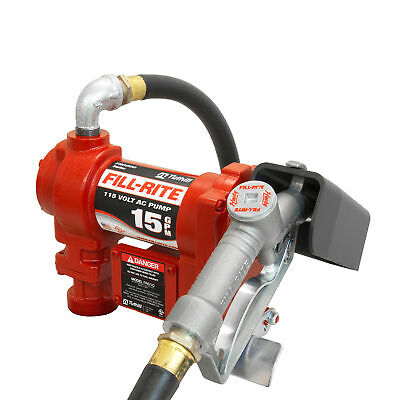 Fill-rite Fr610g Cast Iron 115v Ac Fuel Transfer Pump Automatic Nozzle 15 Gpm