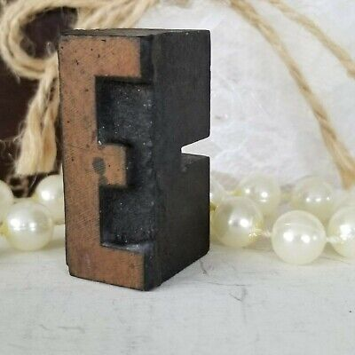 Letterpress E Wood Type Printers Block Typography