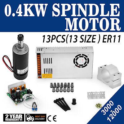 Cnc 0.4kw Brushed Spindle Motor Er11 Amp Mach3 Pwm Controller Mount 480w Psu