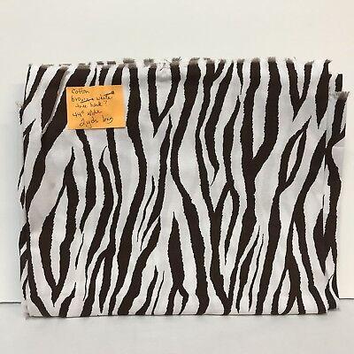 2010 Brother Sister Design Studio Fabric B31 Vb P11 Zebra Brown White 2 Yards