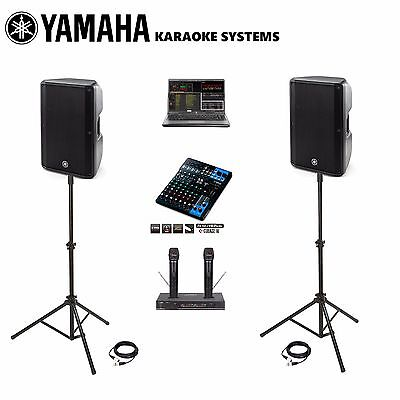NEW Best Karaoke DJ SYSTEM LAPTOP Professional YAMAHA SPEAKERS