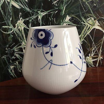 ROYAL COPENHAGEN MEGA BLAU Gerippt / Blue Fluted Mega - edle Vase Large NEU!
