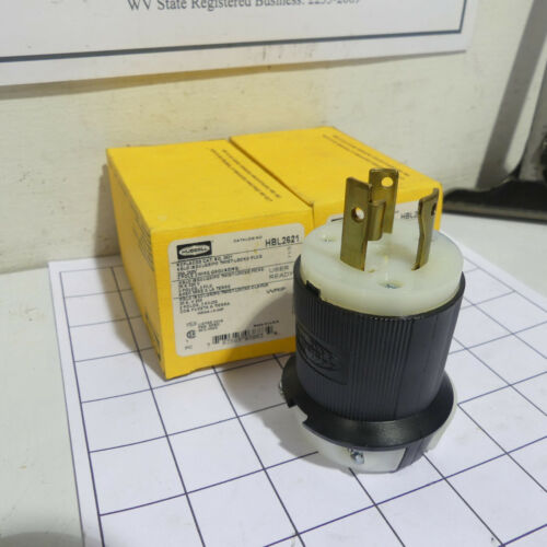 Hubbell HBL2621 Electric Cable Locking Connector 30A 250V NEMA L6-30P