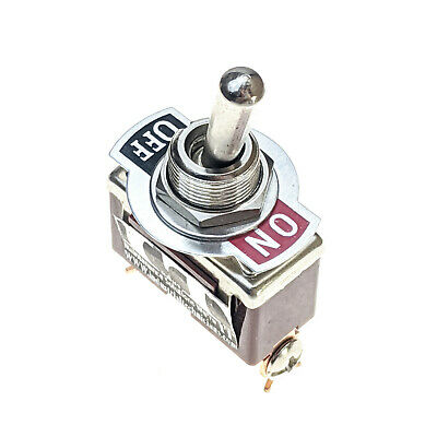 Industec Heavy Duty 20a Spst 2 Pin Toggle Switch Maintained 2 Pos 12v 125 - 250v