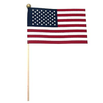 6 Small Handheld American Flags 4x6 USA Patriotic Teacher Supply Party Favors  (Small Flags)