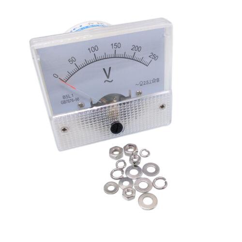 US Stock Analog Voltmeter Panel Pointer Volt Voltage Meter Gauge 85L1 AC 0-250V