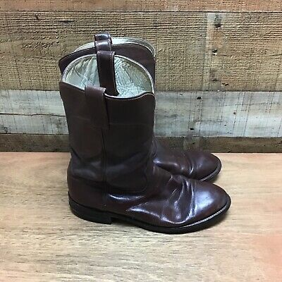 Acme mens 9.5D brown leather cowboy western boots style#5744
