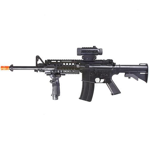 200 FPS FULL AUTO ELECTRIC AEG AIRSOFT RIFLE GUN w/ SCOPE & LASER 6mm BB BBs