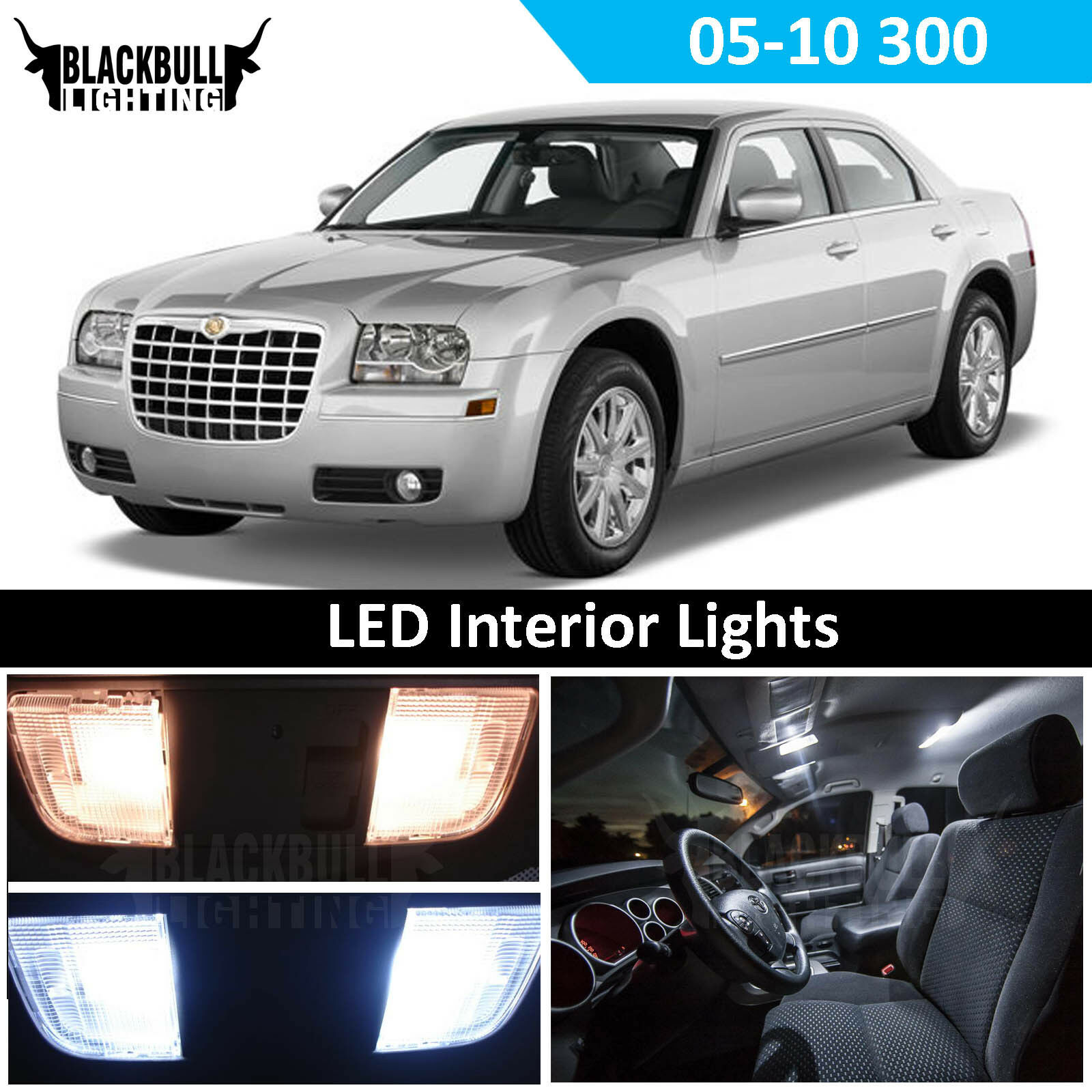 Details About White Led Interior Light Replacement Kit For 2005 2010 Chrysler 300 12 Bulbs