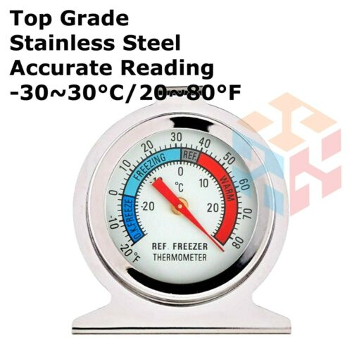 Stainless Steel Metal Temperature Refrigerator Freezer Dial Type Thermometer