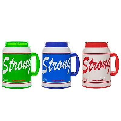 100 Oz Giant Insulated Mug with Straw - # USA Strong - Large Travel Mug ()