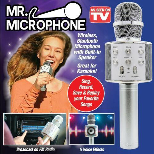 Wireless Bluetooth Microphone With Built-In Speaker Great for Karaoke