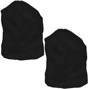 Set of 2 Heavy Duty Jumbo Sized Nylon Laundry Bag - BLACK - Rip & Tear Resistant