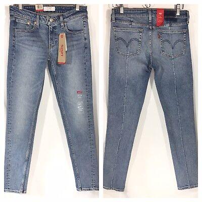 NWT Levi's Altered 711 Vintage Blue Steam Skinny Jeans Womens Denim 27 X 30