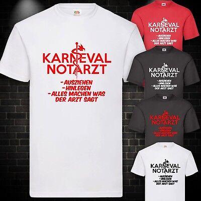 Karneval Notarzt Kostüm T-Shirt Arzt Fun Fasching Karneval Kult Shirt S-5XL
