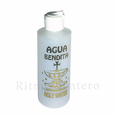 Catholic Holy Water 4.5oz Blessed Bottle Plastic Christian Religious Sprinkler