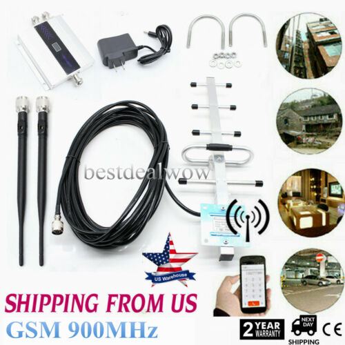 GSM 900MHz Cell Phone Signal 2/3/4G Repeater Booster Amplifi