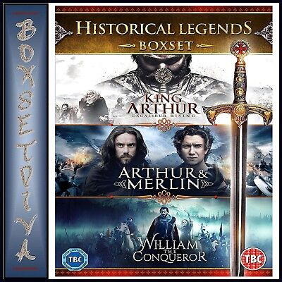 LEGENDS HISTORICAL COLLECTION - KING ARTHUR, MERLIN, WILLIAM THE CONQUEROR DVD
