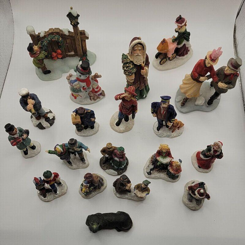 christmas village figurines lot