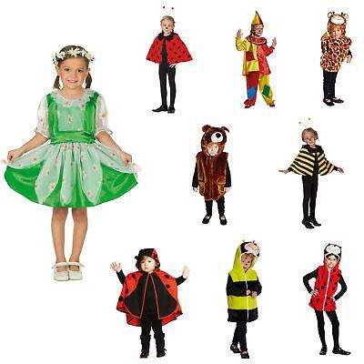 Kinder Kostüm Mädchen Gr.92-140 Halloween Fasching Biene Marienkäfer Clown Zoo ()