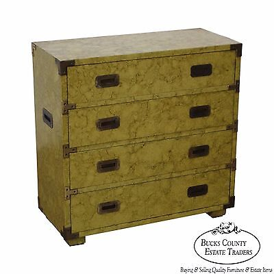 Henredon Vintage Faux Painted Campaign Style Chest of Drawers ()