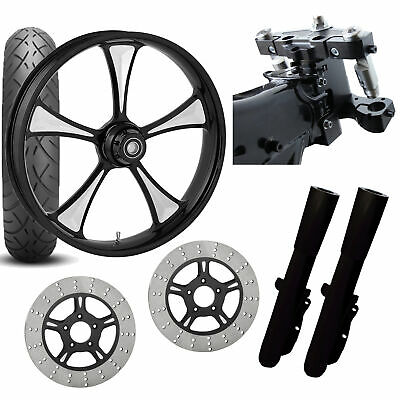 RC 26 Clutch Eclipse Wheel Tire Neck Rake Front End Package Harley Dual Disc