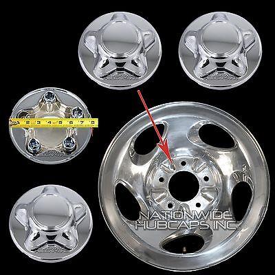 4 Ford F150 CHROME Wheel Center Hub Caps Nut Cover for 5 Slot 16