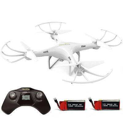 Cheerwing CW4 Explorers RC Quadcopter Drone w/ HD Camera Headless added battery