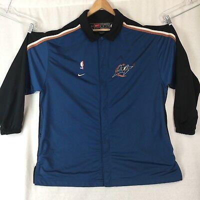 Nba Team Nike Washington Wizards Warm Up Snap Basketball Jacket Size 2Xl