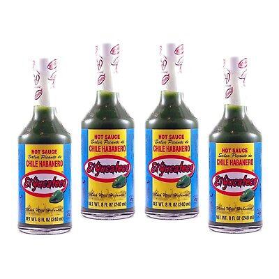 Green Habanero Sauce - El Yucateco Green Habanero Hot Sauce 8 oz. (4-Pack) by El Yucateco