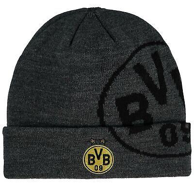 BVB Borussia Dortmund Großes Logo Beanie Hut Wintermütze Schwarz Gelb Fußball (Großen Gelben Hut)