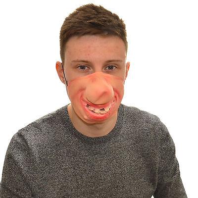 Half Face Big Nose Funny Fancy Dress Latex Mask For Kids & Adults Halloween - Funny Halloween Masks For Kids