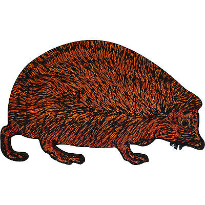 Embroidered Hedgehog Iron On Patch Sew On Badge Cloth Animal Embroidery Applique