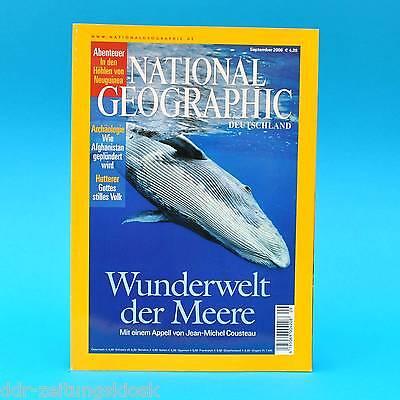 National Geographic September 2006 Höhlen Neuguinea Afghanistan Löwen Hutterer