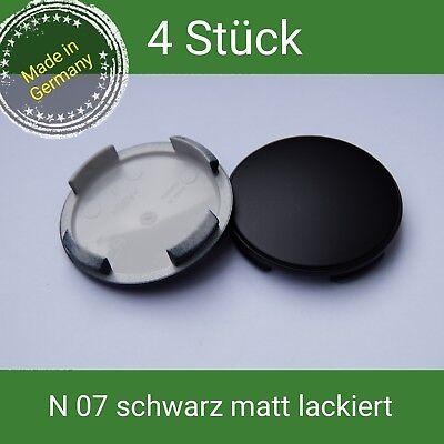 N 07 schwarz matt lackiert Nabenkappen Felgendeckel 60  AEZ Dotz Dezent Tomason