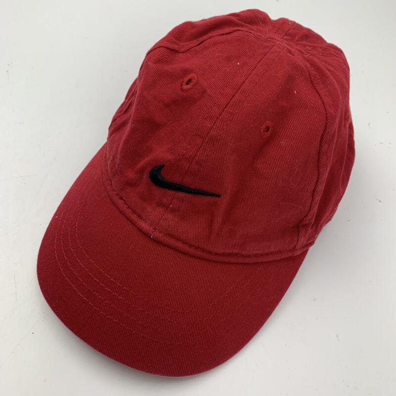 Nike Infant Red Black Ball Cap Hat Adjustable Baseball