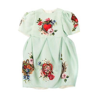 RRP€710 DOLCE & GABBANA Tulip Dress Size 9-10Y / 132-143CM Silk Blend Floral