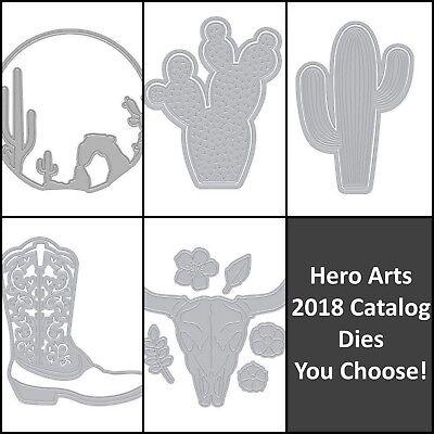 Hero Arts 2018 Catalog Fancy Steel Dies- Cactus, Desert Sunset, Boot YOU CHOOSE!
