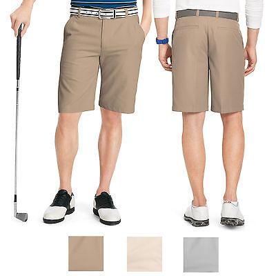 New IZOD Men's Classic-Fit Microfiber Flat-Front Golf Shorts Size 50 Khaki $65 Classic Microfiber Shorts