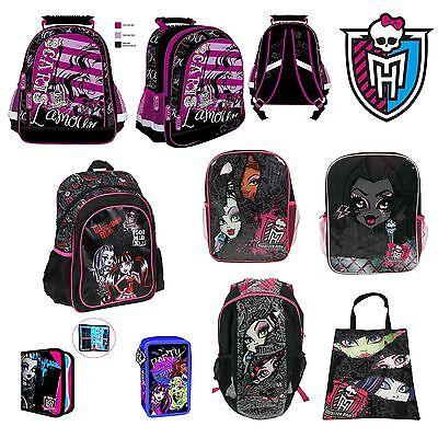 Monster High verschiedene Designs Kinder Rucksack, Tasche, Etui, Polyester SALE ()