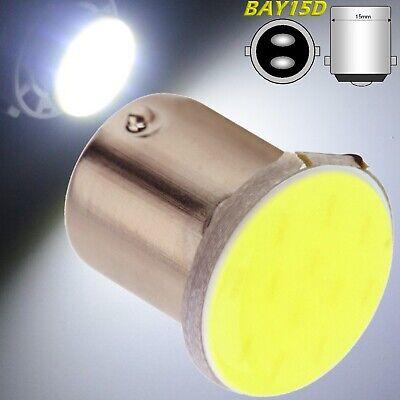 1 Led Luce Freno P21w Bay15d - S25 Cob Led Bianco 12v Retromarcia Stop 1156 12V