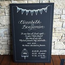 Calligraphy & Signs for Weddings & Events Camperdown Inner Sydney Preview