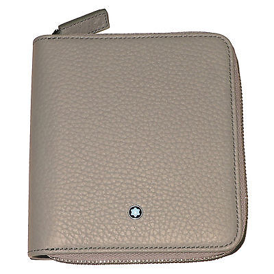 8067460edd New Montblanc Meisterstuck Beige 4CC Zippered Coin Case Leather Wallet Italy