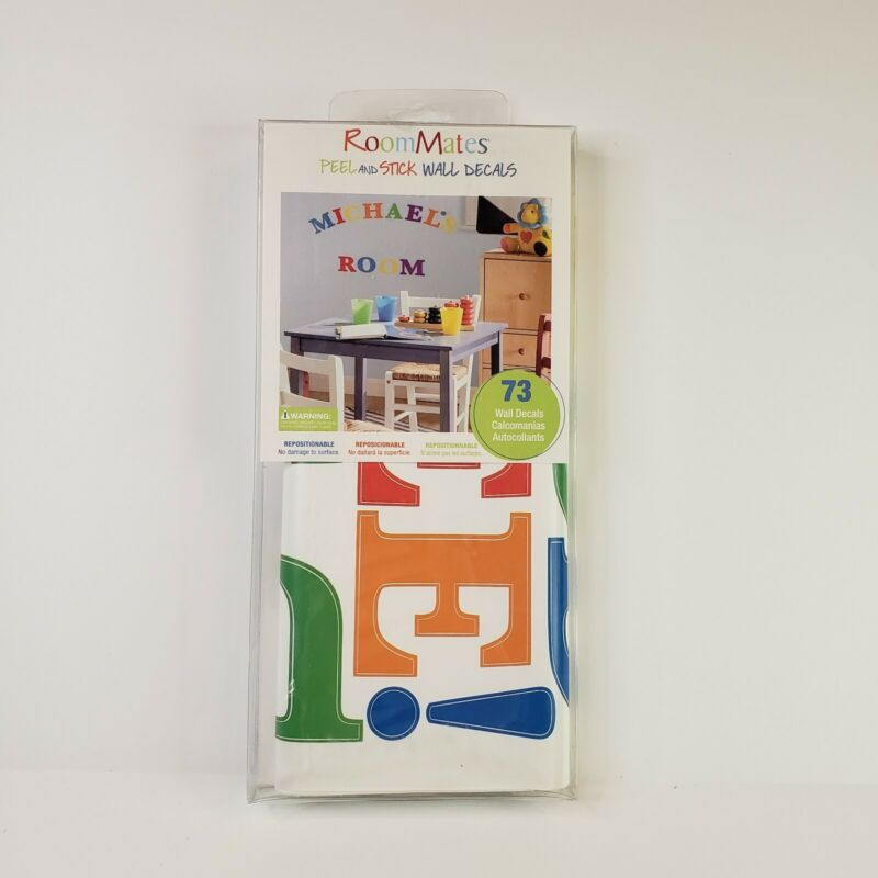 RoomMates Express Yourself Primary Peel and Stick Wall Decals