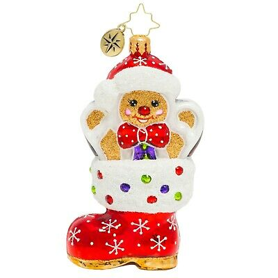 [NEW Christopher Radko A GINGERBREAD SURPRISE Christmas Ornament 1020162</Title]
