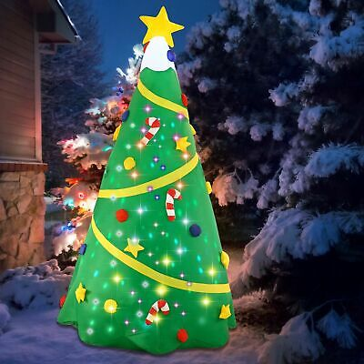 8FT Christmas Tree Christmas Inflatable Decoration w/Light w/Build-in Projection